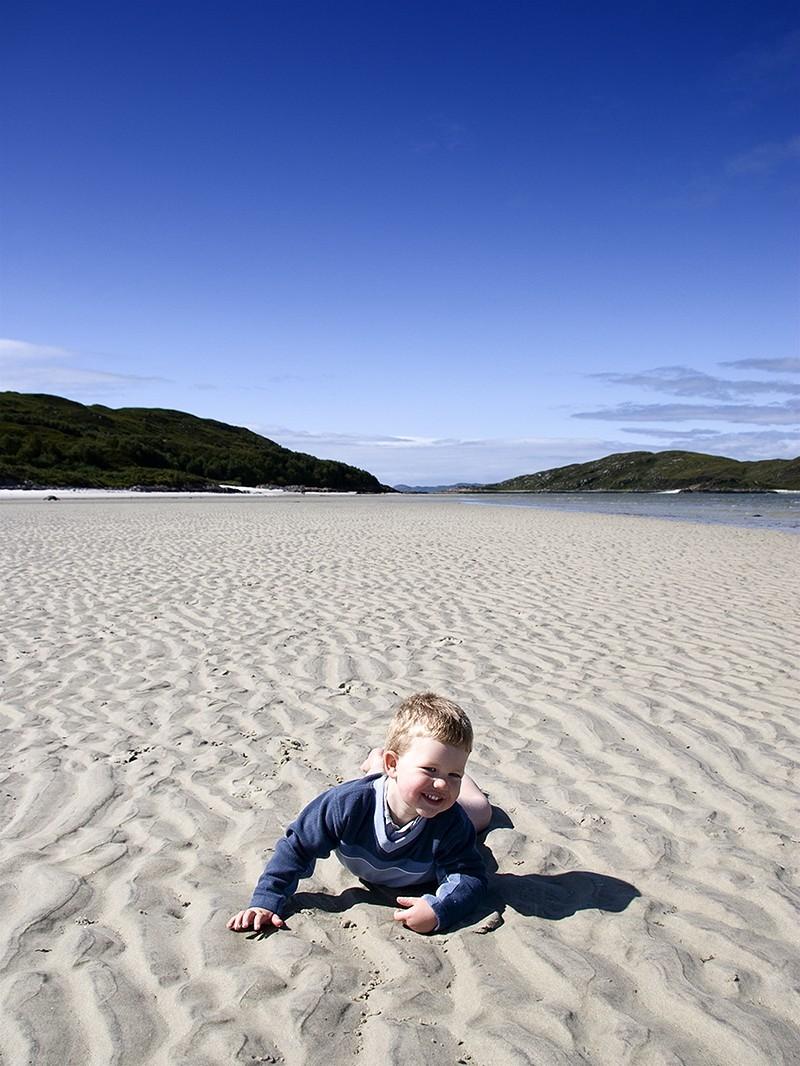 beach, sky, scotland, fall, smile