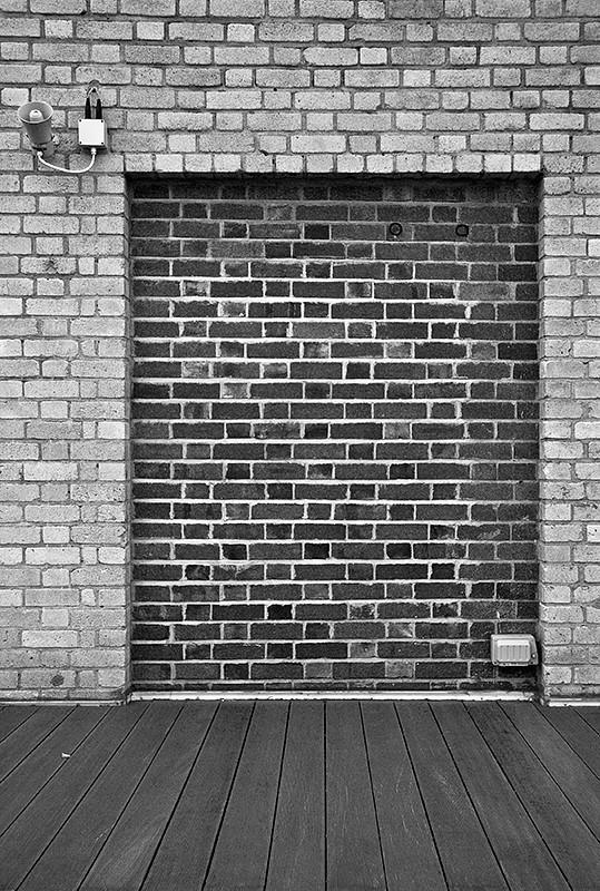 brick, wall, no entry