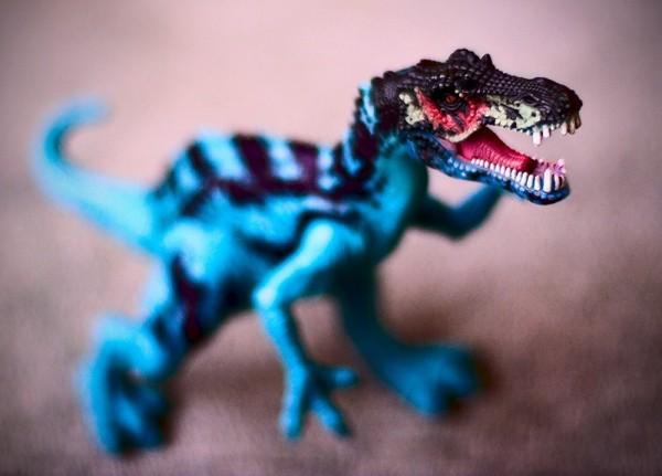 dinosaur, rrrrragh!, toy, macro, 50mm, DoF