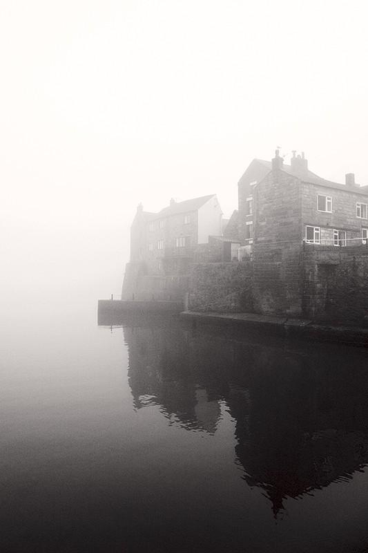 mist, staithes, sea,