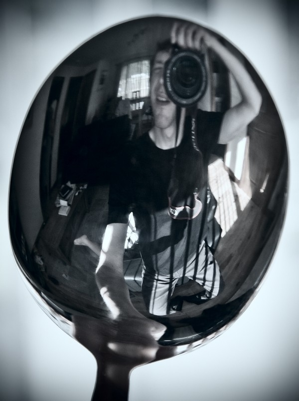 spoon self portrait me reflection mirror