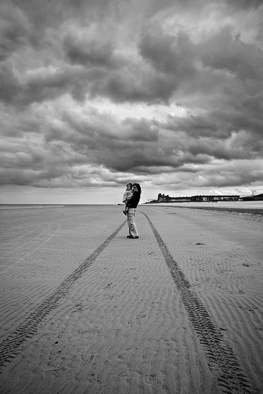 Redcar beach sky