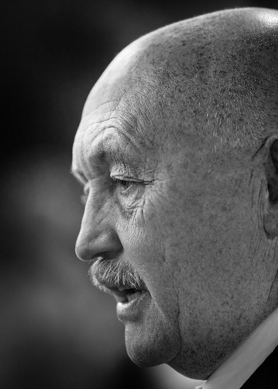uncle portrait black and white