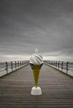 ice cream, pier, saltburn, LAB, seaside, coast