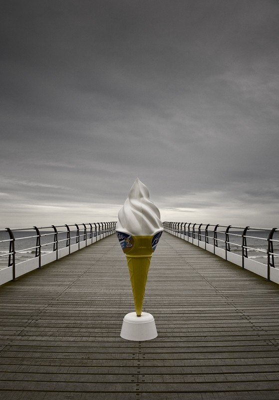 ice cream, pier, saltburn, LAB, seaside, coast