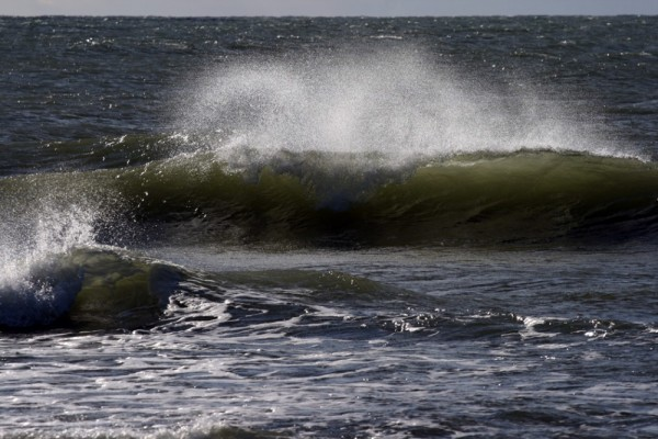 Storm at the sea