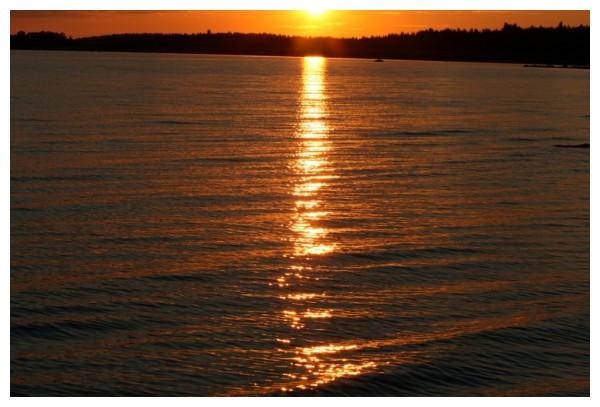 Sunset at see