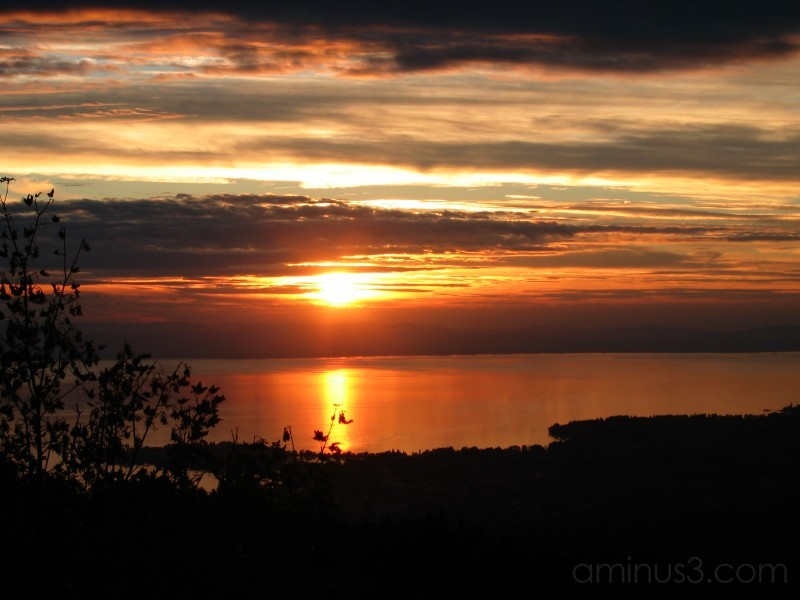 Sunset over Lake of Constance