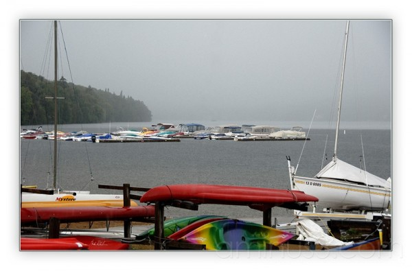 Rainy day at the marina