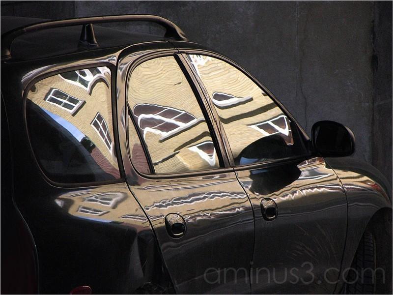 Reflection on a car