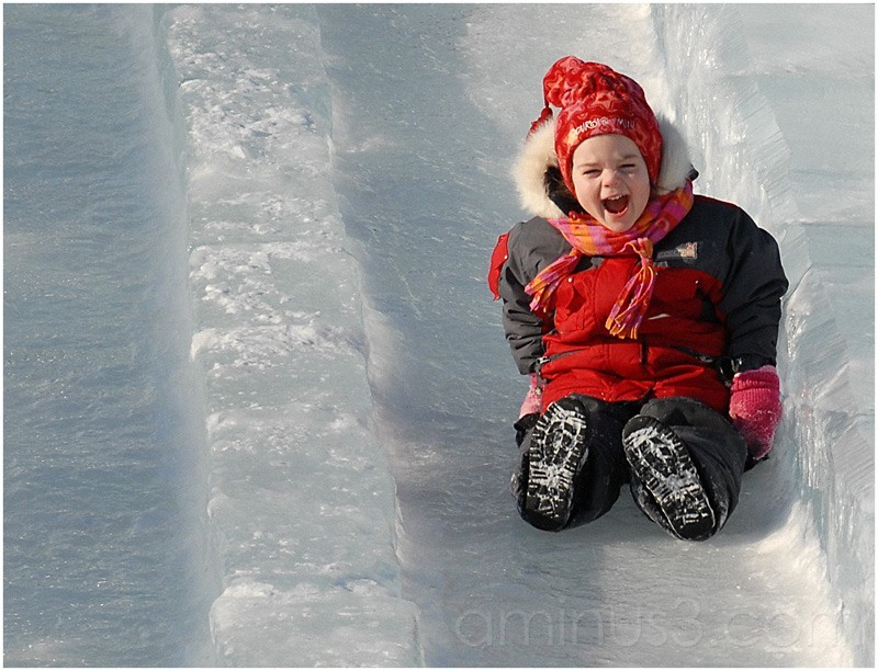 Winter is funny for children