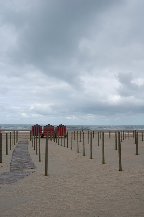 beach of De Panne in Belgium