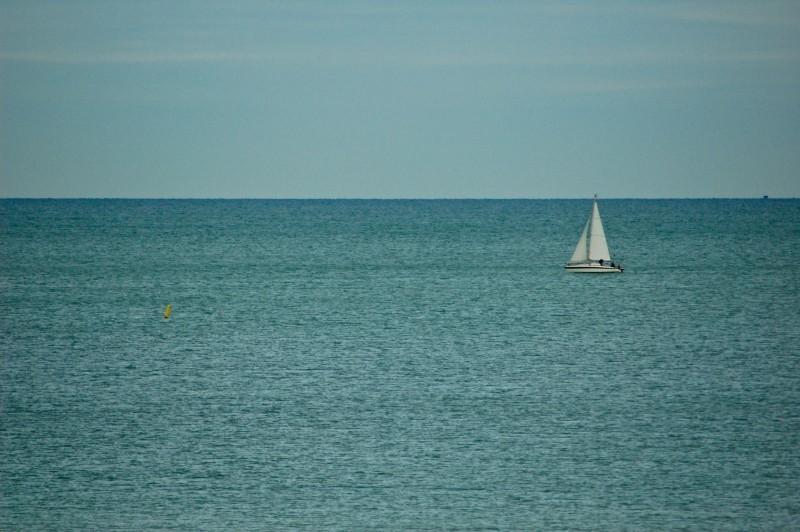 little boat on dieppe