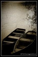 Vieille barque-bateaux
