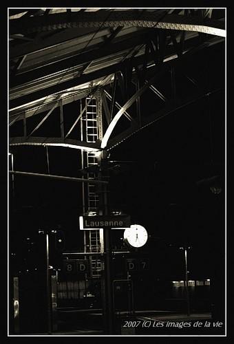 Marquise de la gare de lausanne Suisse