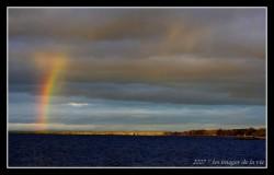 Arc en ciel sur le lac st jean - Rainbow on lak