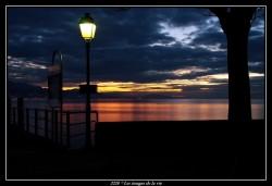 oucher de soleil le port de Lutry