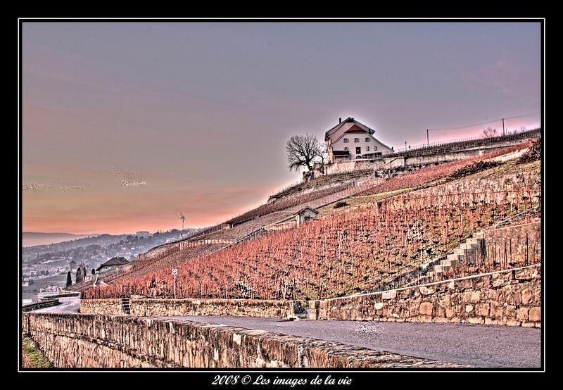 Maison sur la petite corniche villette suisse