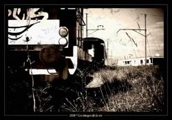 Vehicles abandoned railway