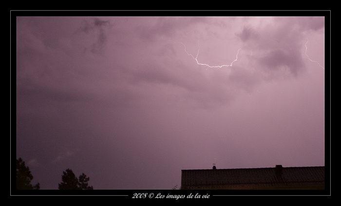 Orage sur Savigny-storm