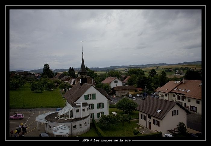 Village de vuillens vu à 30 metre de haute