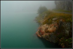 The lake Emosson-lac d'emosson