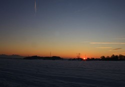 Sunset on the snow!