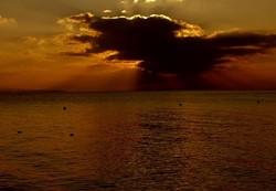 Sunset on Lake Geneva.
