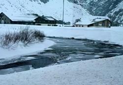 Frozen river in the Grisons in Switzerland!
