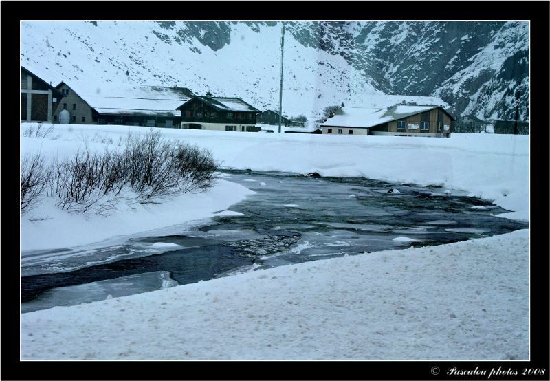 Frozen river in the Grisons in Switzerland!