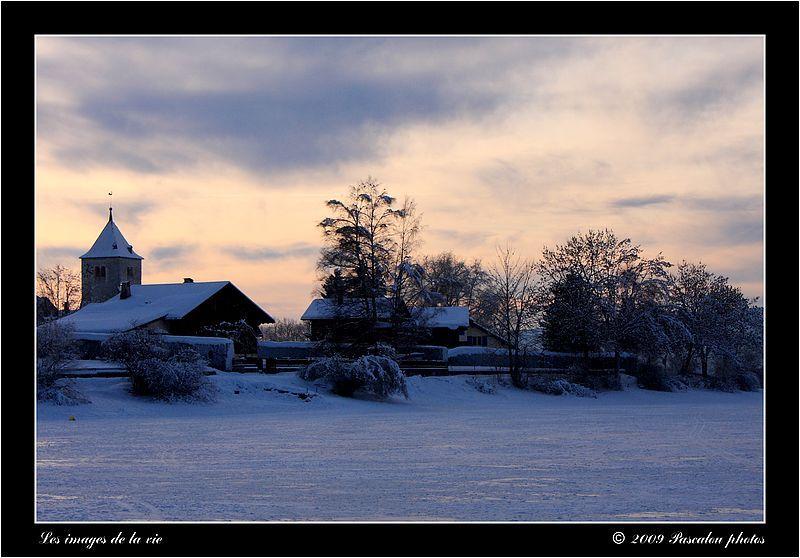Village at Lake Joux times it froze!