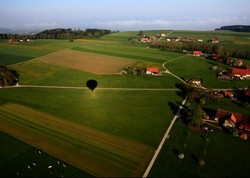 vol en  ballon.balloon flight.