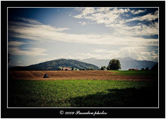 la nature, le paysage et le paysan au travail.