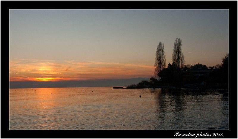 coucher de soleil sur lutry.