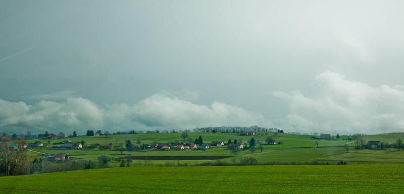 Paysage vaudois au environ de Vucherens,suisse.