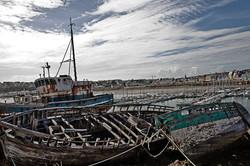 Camaret sur mer le cimetiere à bateau.