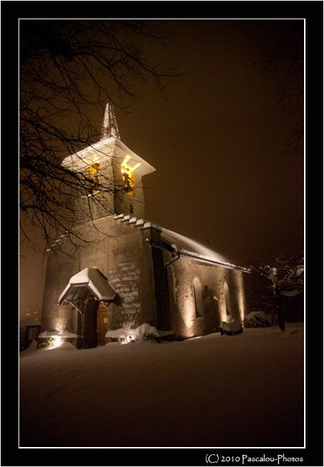 eglise,church,savigny,suisse,neige,froid,nuit,
