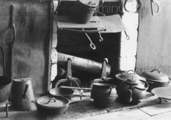 still life of shaker kitchen