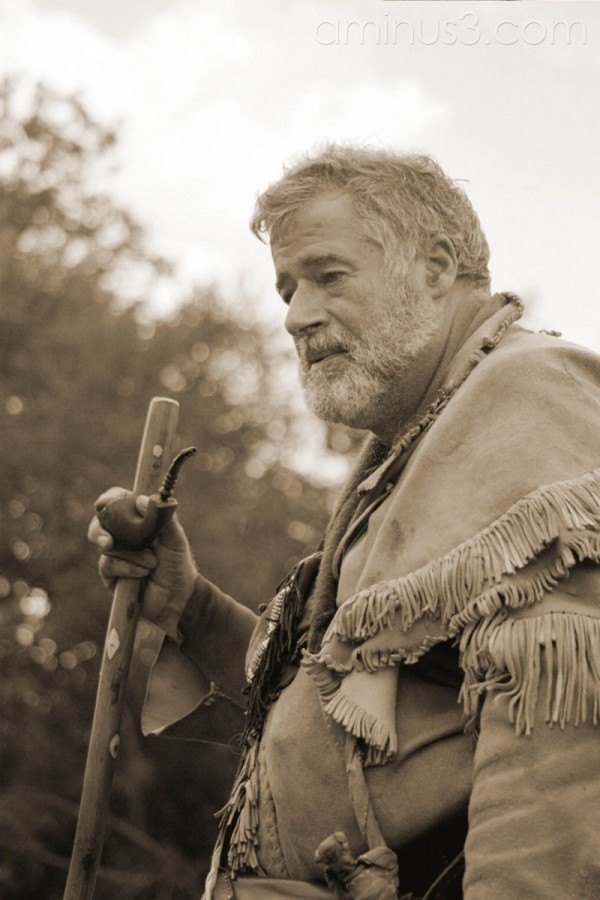 man during reenactment at fort boonesborough