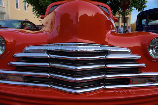 tight abstract shot of street rod