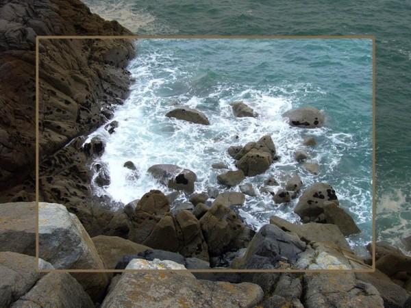 When sea meets earth...