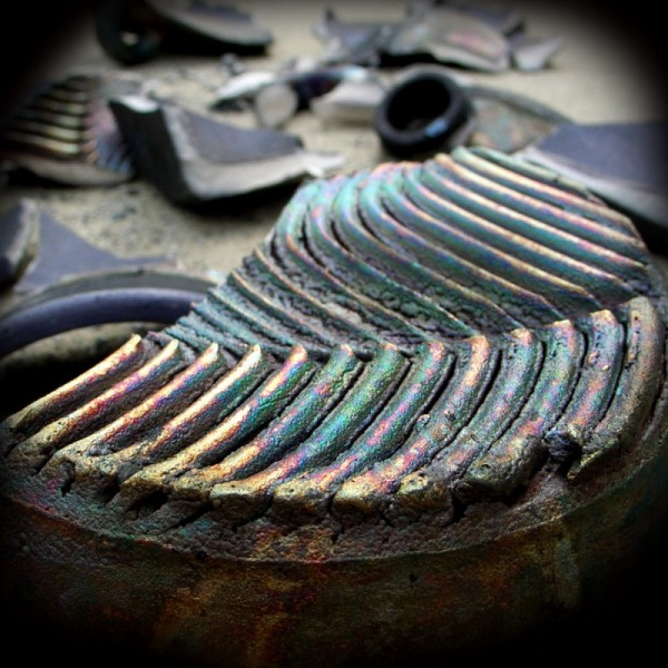 broken ceramic pinhole camera