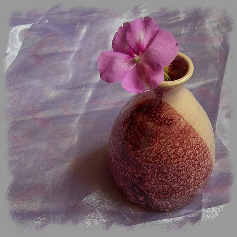 Wheel-thrown vase pottery ceramics