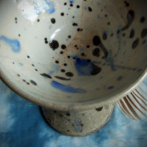goblet, martini glass, wheel-thrown pottery cerami