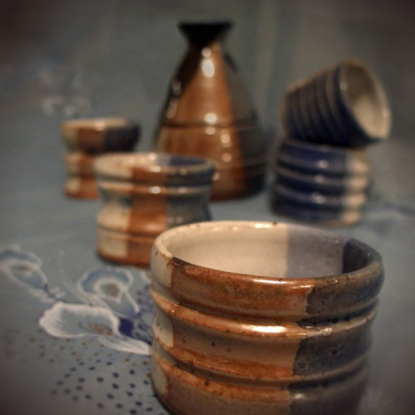 Sake Set wheel-thrown pottery ceramics