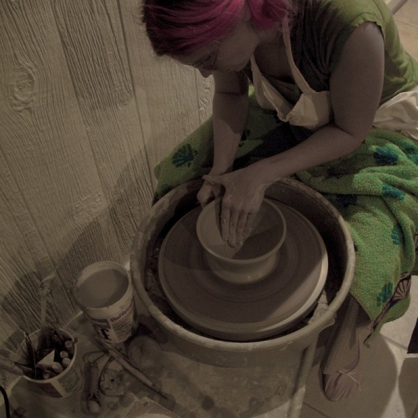 pottery ceramcis wheel-thrown bowl treatment