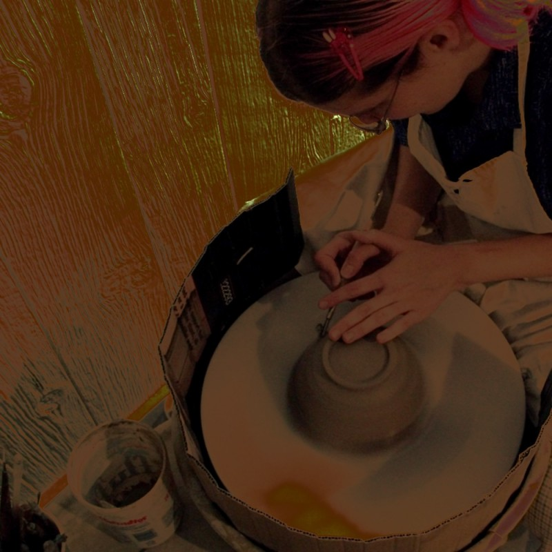 wheel-thrown pottery ceramics bowl altered trimmin