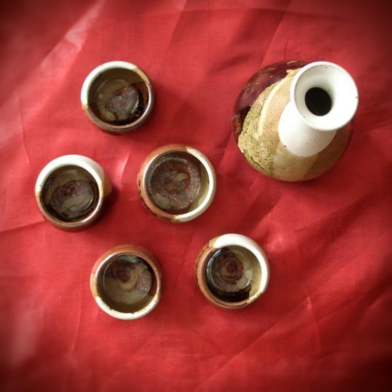 sake set wheel-thrown pottery ceramics