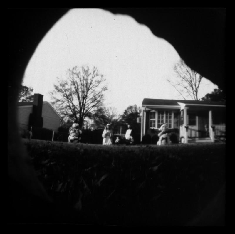 pinhole ceramic camera b&w