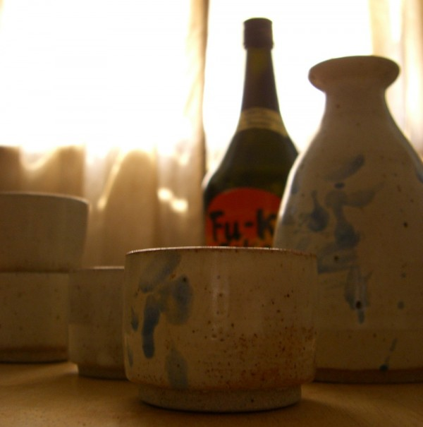 sake set pottery ceramics wheel-thrown